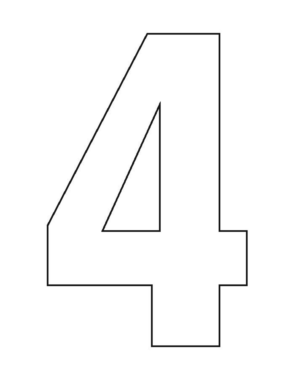Wheelie Bin Number Sticker White Four