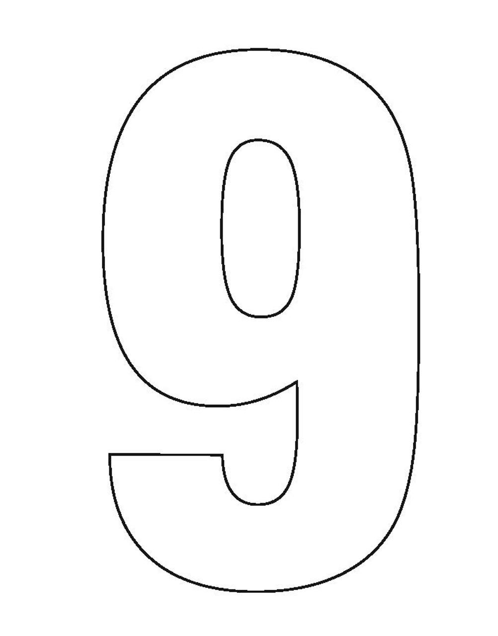Wheelie Bin Number Sticker White Nine