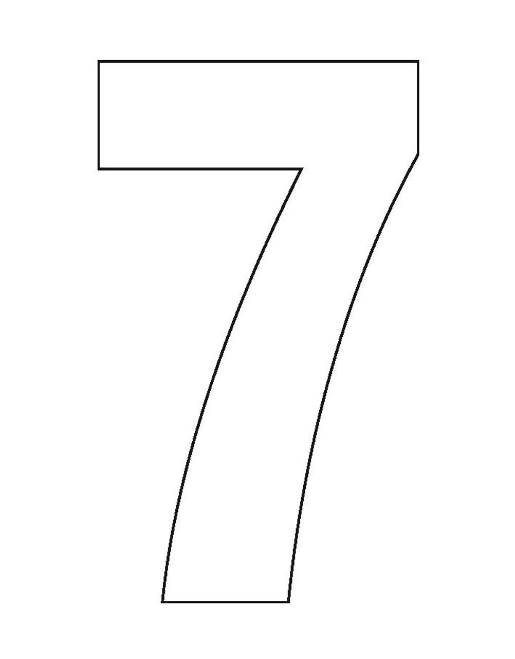 Wheelie Bin Number Sticker White Seven