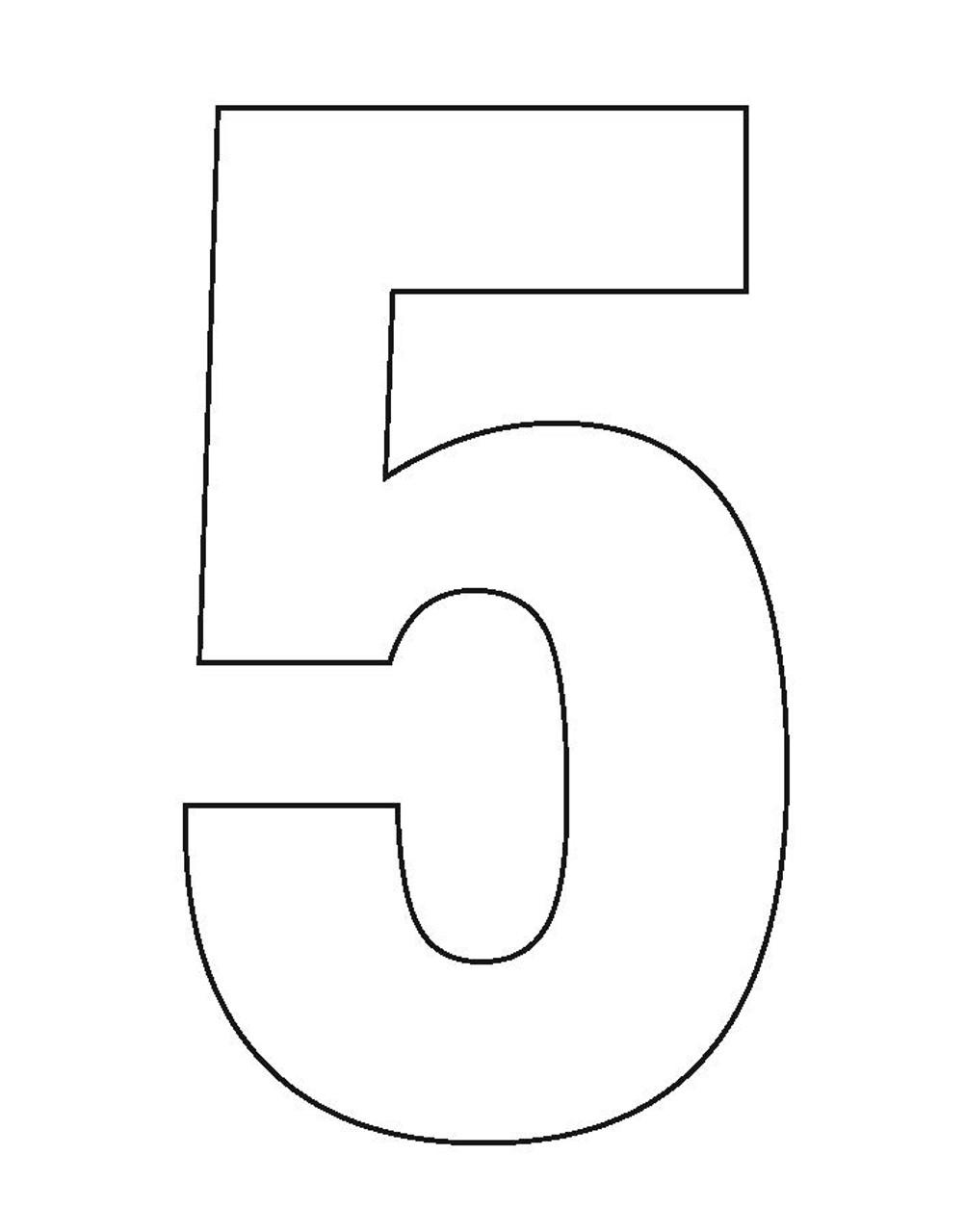 Wheelie Bin Number Sticker White Five