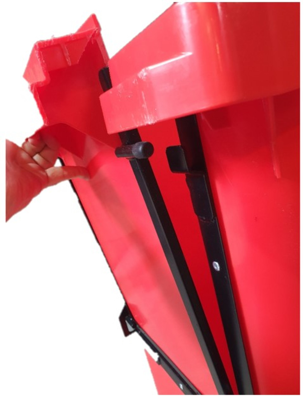 Wheelie Bin With Drop Front - Close Up