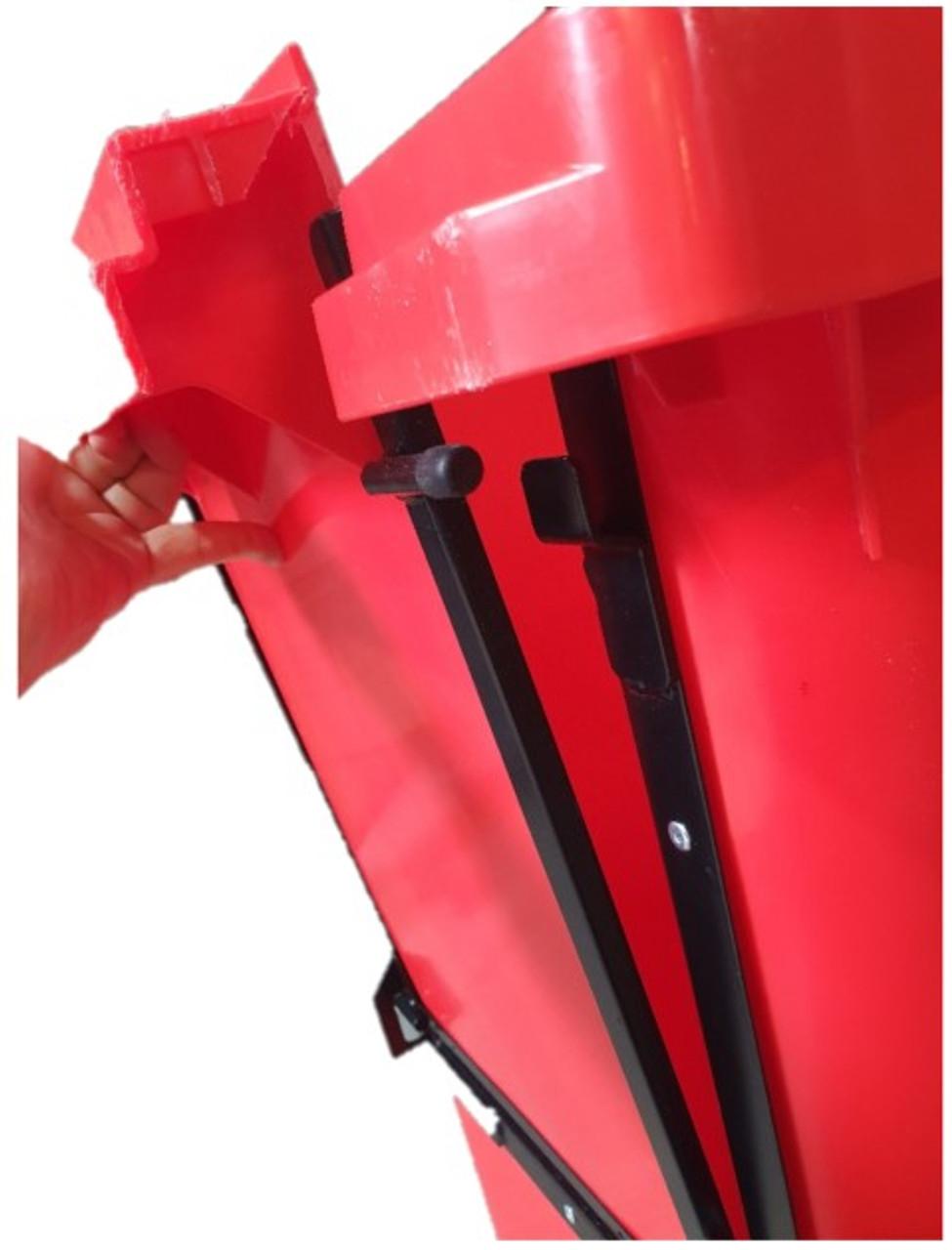 Wheelie Bin With Drop Front - Close Up