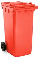 Red 240 Litre Wheelie Bin