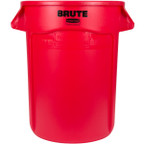 Rubbermaid Brute Container With Venting Channels 166.5 L - Red