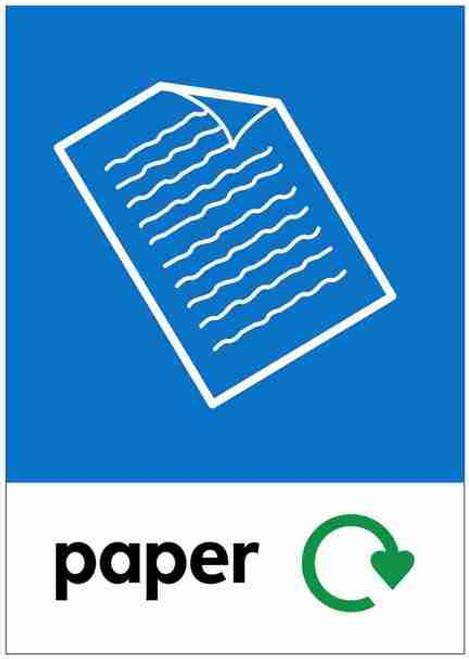 Large A4 Wheelie Bin Sticker - Paper