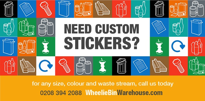 Wheelie Bin Recycling Stickers