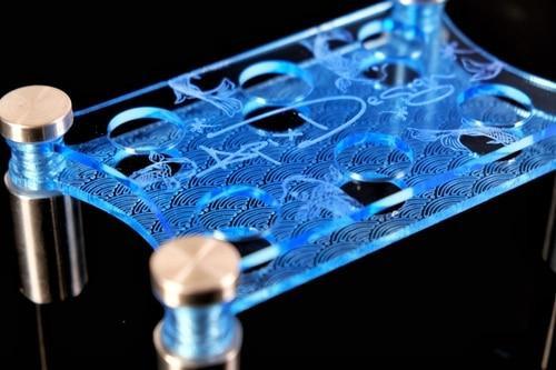 Blue ApixDesign Laser Cut Slide Stand Fits 6 Slides