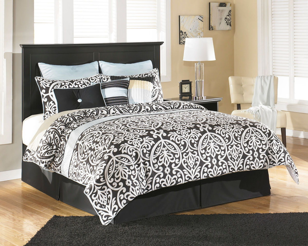 Picture of: The Maribel Black Queen Full Panel Headboard Available At Regal House Outlet Serving New Bedford Ma And Surrounding Areas