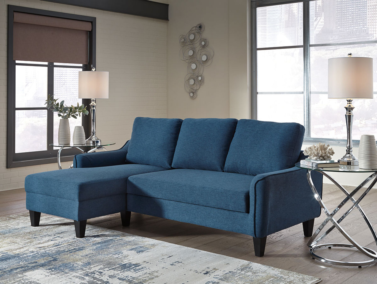 Admirable Jarreau Blue Queen Sofa Sleeper Gmtry Best Dining Table And Chair Ideas Images Gmtryco