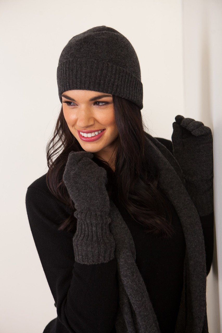 1f67925d9af Claudia Nichole 100% Cashmere Essential Hat is just that