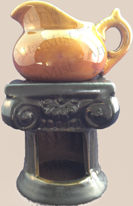 Attar Mist Round Milk Pot Oil Burner