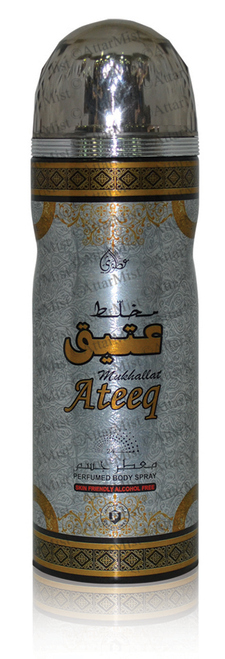 Ateeq alcohol free body spray by Otoori