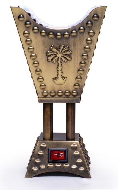 Square Electric Mubkhara in Bronze