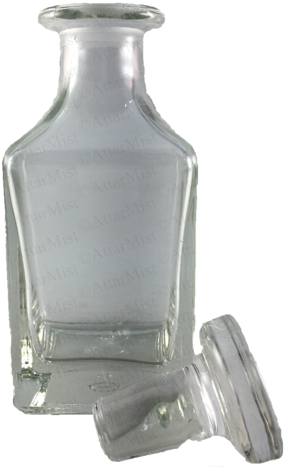 Attar display bottle with cap off - AttarMist.com