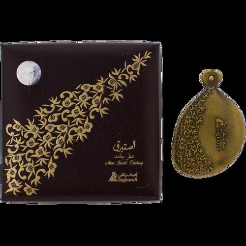 Estabraq Solid Perfume and box by AsgharAli - AttarMist.com