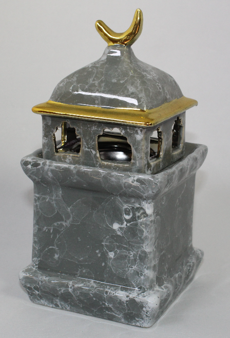 Ceramic Minaret Charcoal Burner - Grey