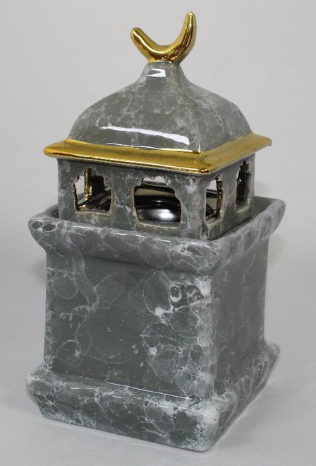 Ceramic Minaret Charcoal Burner - Grey