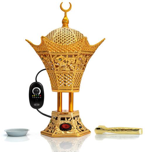 AM Regulator Electric Incense Burner with Adjustable Timer    Hilal Gold  