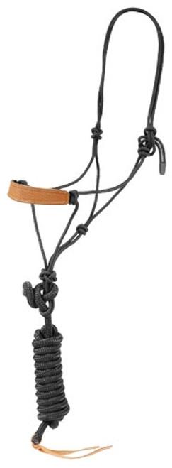 Leather Nose Rope Black Halter