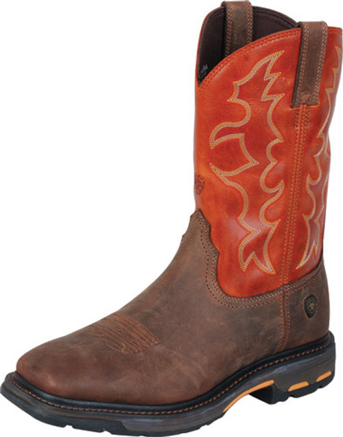 ARIAT WORKHOG SQUARE NON-STEEL TOE WORK BOOT - FREE SHIPPING