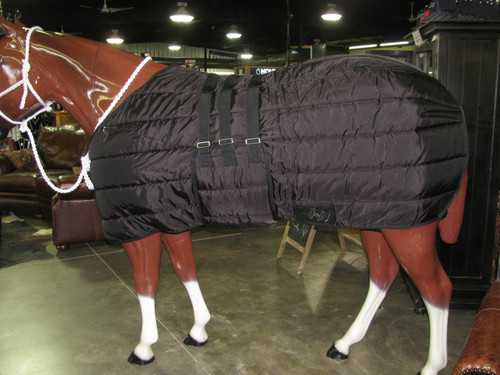 FUTURITY 420D BLACK STABLE BLANKET W/ BELLY BAND