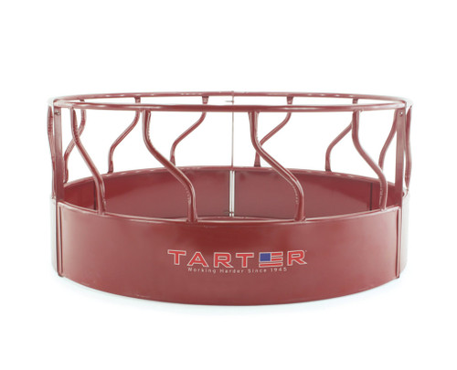 TARTER 3-PIECE HEAVY-DUTY BULL HAY FEEDER – RED