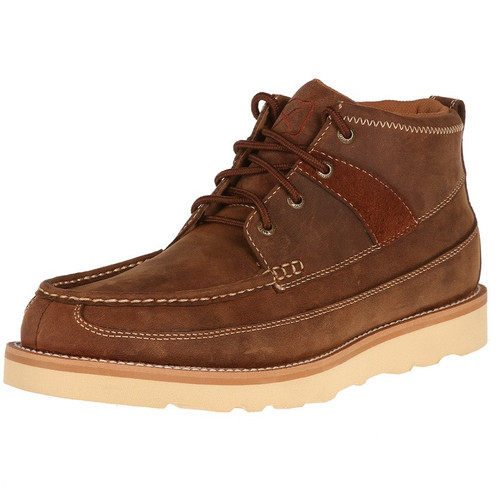 MEN'S TWISTED X OILED SADDLE WEDGE CASUAL - FREE SHIPPING
