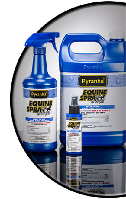 PYRANHA EQUINE SPRAY & WIPE FLY SPRAY - WATER BASE