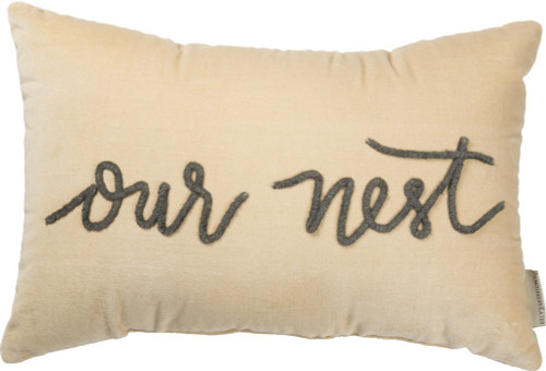 OUR NEST VELVET PILLOW