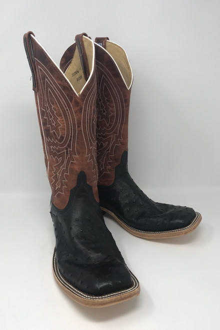 ANDERSON BEAN BLACK FULL QUILL LAVA TOP BOOTS