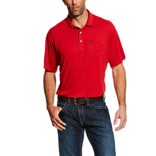 ARIAT FREEZE POINT POLO TRUE CRIMSON