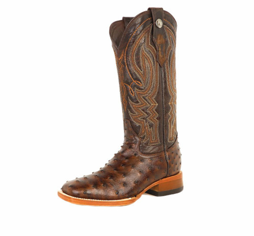 TANNER MARK FULL QUILL PRINT TOBACCO BOOTS