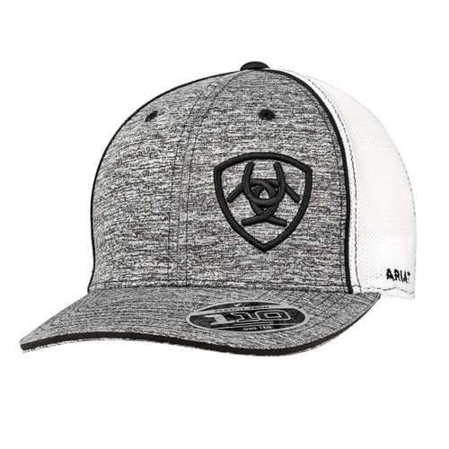 ARIAT HEATHER GREY W/ BLACK LOGO SNAPBACK
