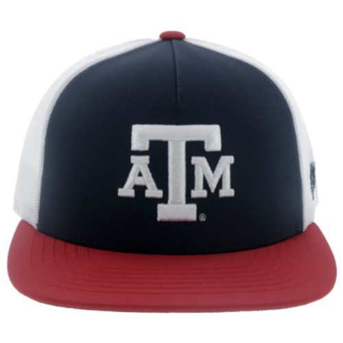HOOEY TEXAS A&M RED/WHT/NVY SNAPBACK MESH BACK