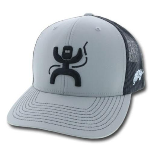 HOOEY 'ARC' GRY/BLK SNAPBACK MESH CAP