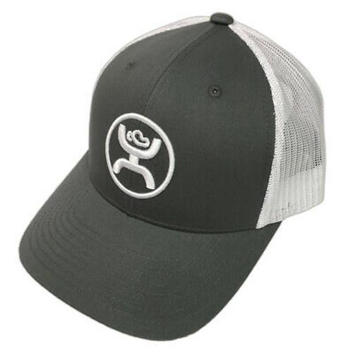 HOOEY 'CODY' OHL GRY/WHT SNAPBACK MESH CAP