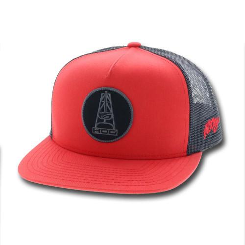 HOOEY ROSE HOG BLK/RED SNAPBACK CAP