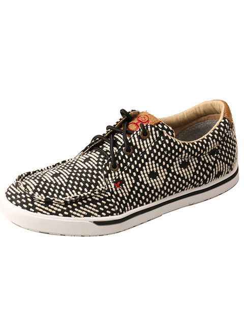 TWISTED X WOMENS HOOEY LOPER BLACK AND WHITE