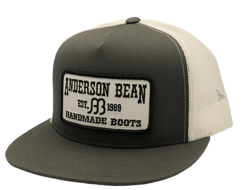 """RED DIRT HAT CO """"ANDERSON BEAN"""" CHARCOAL/ WHITE CAP"""