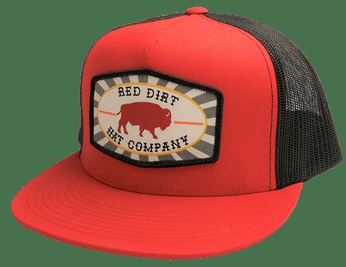 "RED DIRT HAT CO ""BEACHNUT"" RED/ BLACK CAP"