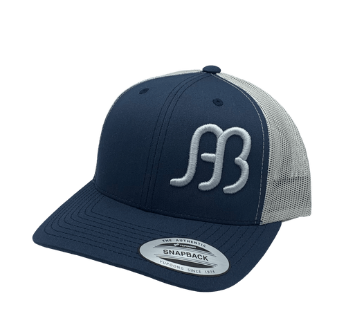 """RED DIRT HAT CO """"ANDERSON BEAN"""" NAVY/ SILVER CAP"""