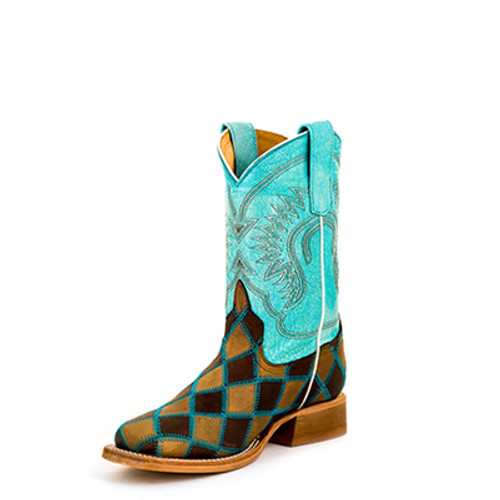 HORSE POWER TODDLER'S TURQUOISE PATCHWORK