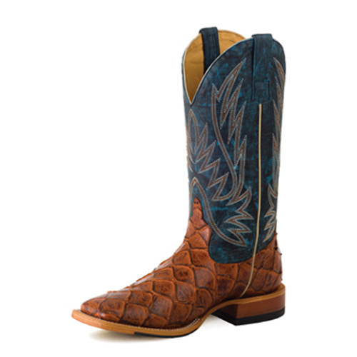 HORSE POWER YOUTH'S COGNAC FISH PRINT/ BLUE