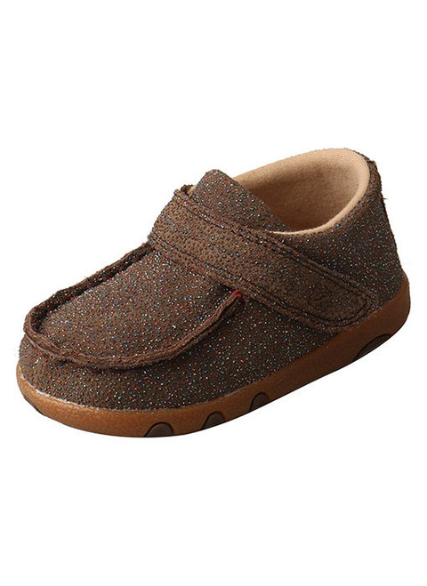 TWISTED X INFANT DRIVING MOC CHOCOLATE SHIMMER