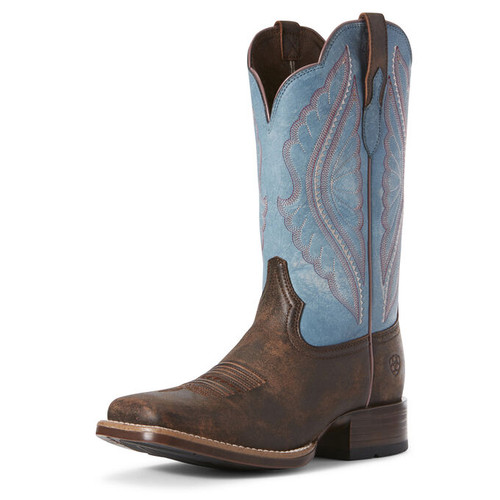 ARIAT WOMEN'S PRIME TIME WESTERN BROWN/ BLUE