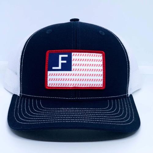 LANE FROST 'FREEDOM' NAVY/WHITE CAP