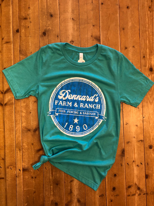 DENNARD'S LOGO CIRCLE BLUE/ SEA GREEN