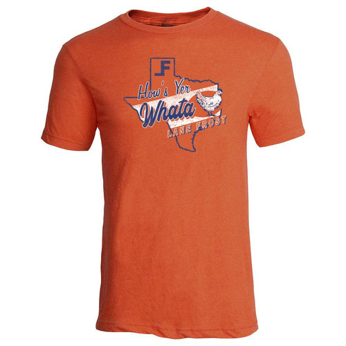 LANE FROST WHATA CHICKEN TEE ORANGE