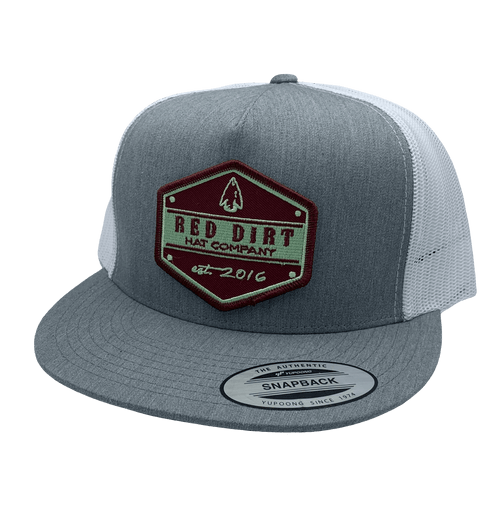 "RED DIRT HAT CO ""ARROW HEAD"" HEATHER GREY/ WHITE CAP"