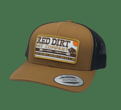 "RED DIRT HAT CO ""ARROWS"" CARAMEL/ BLACK CAP"
